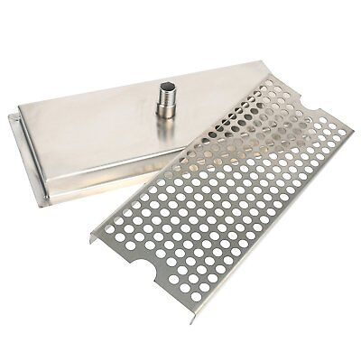 Beer Drip Tray Stainless Steel Flush Mount Drip Tray w/ Drain 12