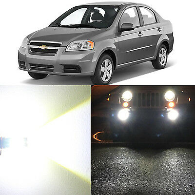 Alla Lighting Fog Light H3 6000K Super White LED Bulb for 09~11 Chevy Aveo