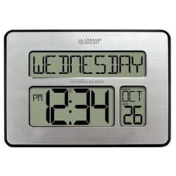 Simple Atomic Digital Wall Clock Extra Large Numbers AM PM Easy To Read Snooze