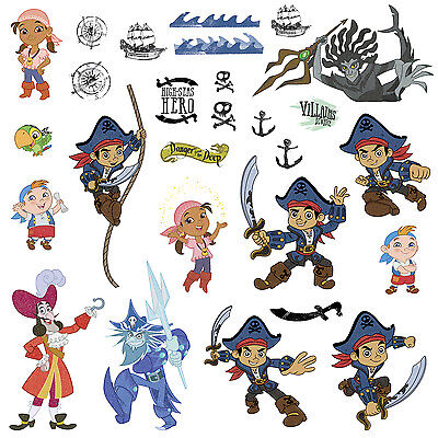 CAPTAIN JAKE and the NEVERLAND PIRATES Pirate Wall Stickers Big Disney Jr - Jake And The Neverland Pirates Bedroom
