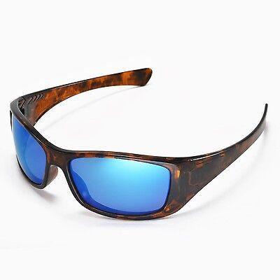 oakley flak jacket black iridium polarized lenses  walleva polarized