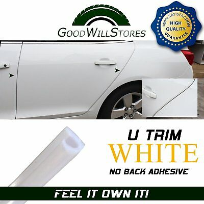 White Moulding Strip 3Yard All Weather Protective Door Edge Guard Anti rub