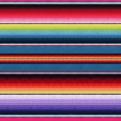 Fabric Mexican Sombrero Serape Fiesta Stripe Cotton by Elizabeth by the 1/4 yd (Sombrero Stoff)