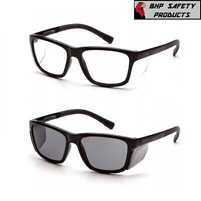 Pyramex Conaire Safety Glasses Black Frame With Integrated Side Shields 1pair