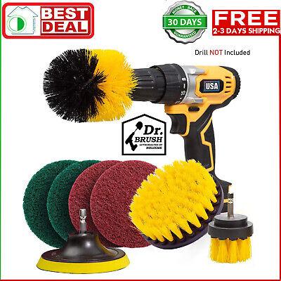 Set 8 Piece Drill Brush Attachment Set Scouring Pads Power Scrubber Brush Scrub