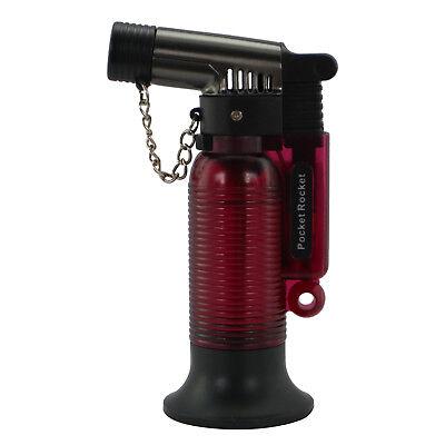 Pocket Rocket Single Jet Flame Butane Cigarette Cigar Torch Lighter – Red