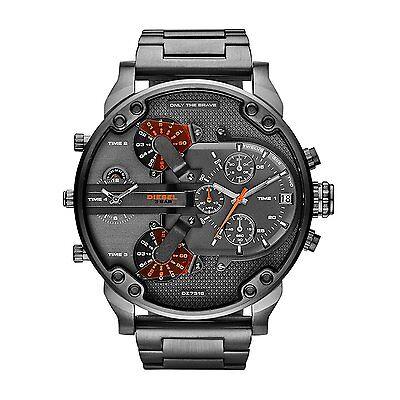 Diesel Original MR DADDY 2.0 Multiple Time Chrono Gunmetal Watch 57mm DZ7315