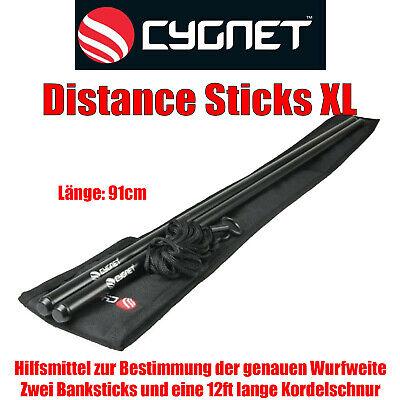 Cygnet Distance Sticks XL - Wurfweitenermittlung 2 Banksticks plus 12ft. Kordel