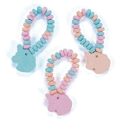 12 Unicorn Candy Bracelets  TREAT LOOT BAG Birthday Party - Candy Party