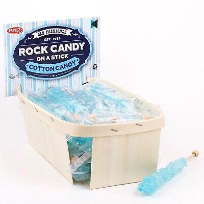 Light Blue Rock Candy -18Sticks - Cotton Candy - Party Favors - Candy Buffet