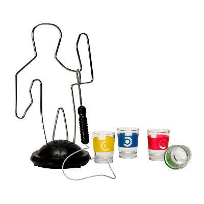 Trinkspiel Der heiße Draht mit 4 Gläsern Saufspiel Heißer Draht Schnaps