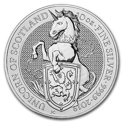 2019 Great Britain 10 oz Silver Queen's Beasts The Unicorn - SKU#173334