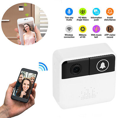 Wireless WiFi Remote Video Door Camera Phone Doorbell Intercom IR Security Bell