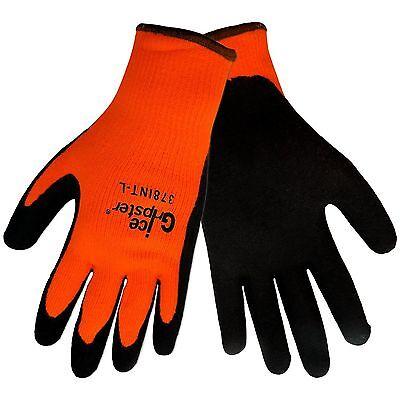 Global Glove 378int Ice Gripster Rubber Winter Gloves Orangeblack New Warm