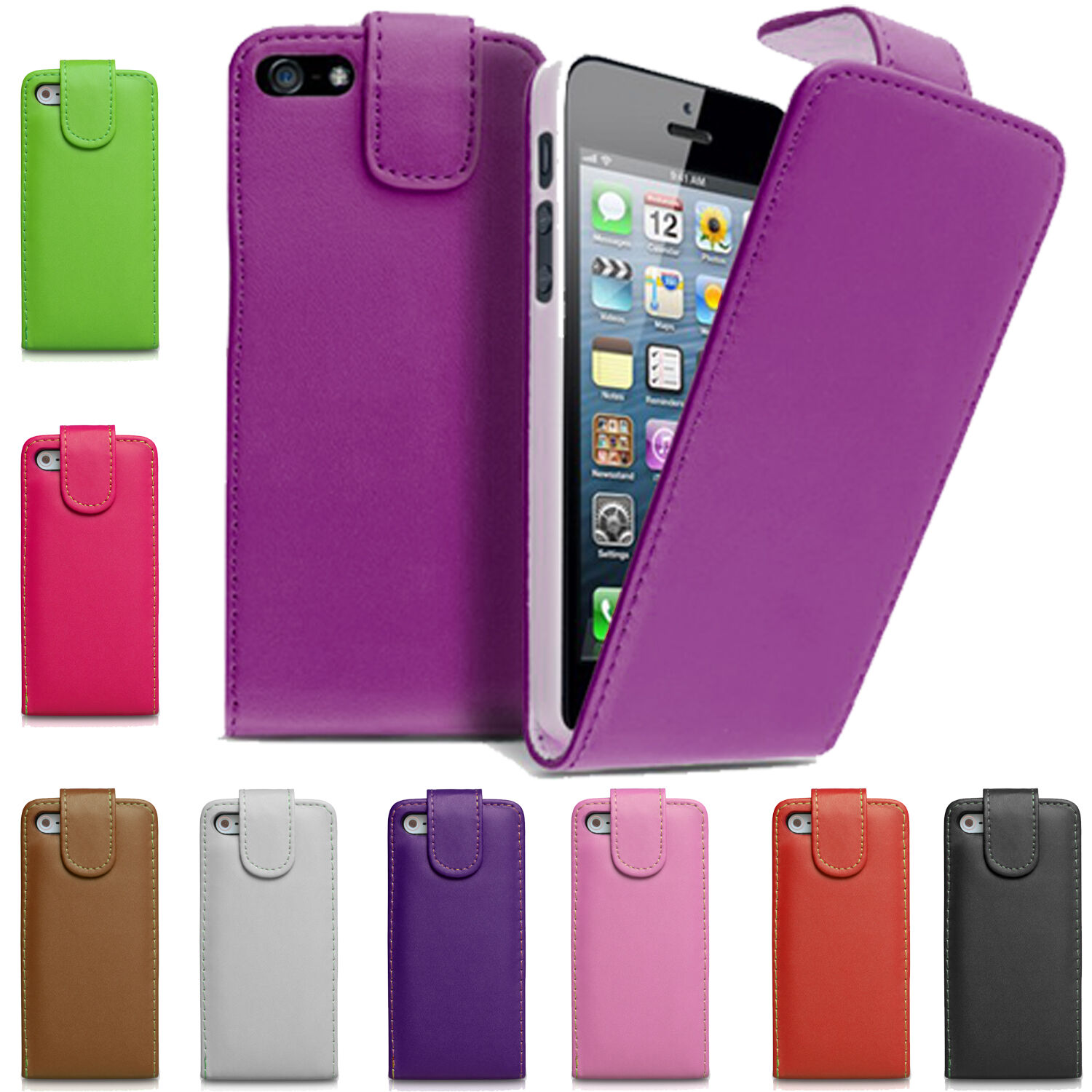 best iphone 4s case pu leather magnetic closure top flip phone cover for 3392