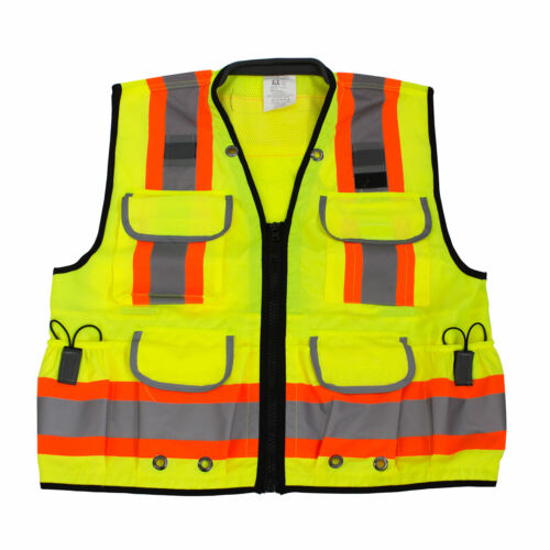 Rk Safety Two Tone Reflective Construction Traffic Emergency Safety Vest(Lime)