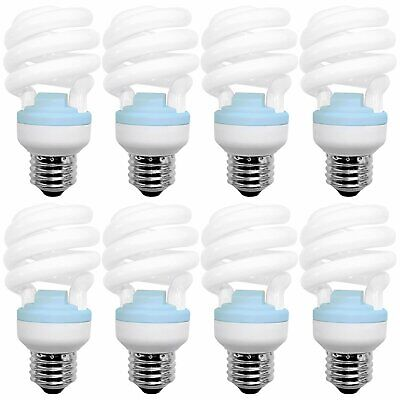 GE Reveal 20W CFL T2 Spiral Bulb 1200lm 2500K Damp Rated UL Listed 8-Pack Ge Reveal Cfl