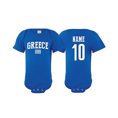 Greece Soccer Baby Outfit Mameluco Infant Boys Girl Bodysuit T-shirt - Greece Outfits