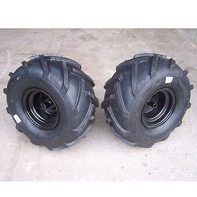 20x10.00-8 TIREs RIMs WHEELs ASSEMBLY Garden Tractor Riding Mower Blk 3/4