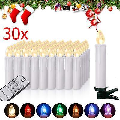 30 sin Hilos LED Velas de la Navidad RGB Exterior Guirnalda Luces...