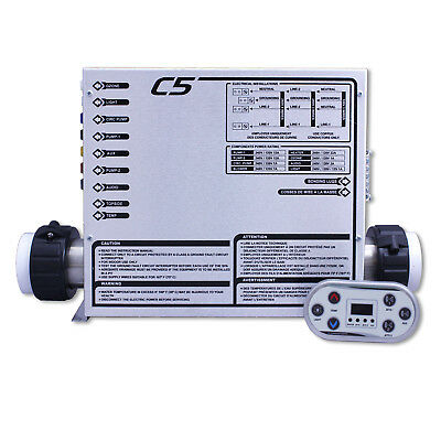 Hot Tub Basics   C5 CB Electronic Spa Control System 120/240V 1.4/5.5kW Retrofit