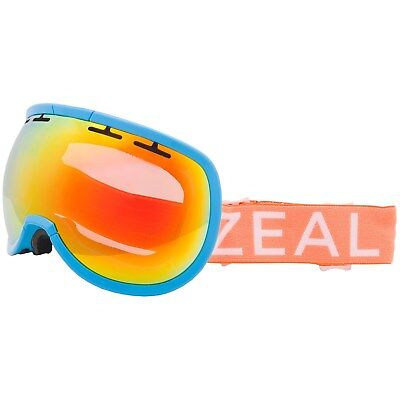 7e78b9a68c Zeal Optics Level Goggles Ski Snowboard Blue Tang Frames Phoenix Mirror Lens
