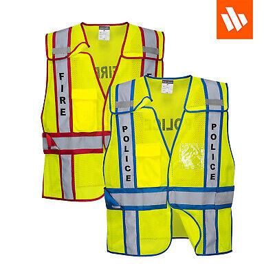 Portwest Us387 Hi-vis Breakaway Public Safety Vest Police Or Fire