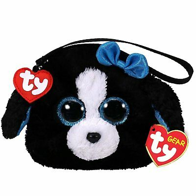 New 2018 TY Gear Beanie Boos TRACEY the Dog Wristlet Coin Purse with Strap