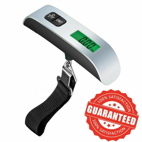 Portable Digital Luggage Scale LCD Display Travel Hook 110lb/50kg Hanging Weight Luggage Accessories