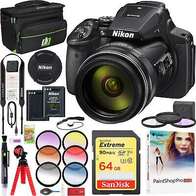 Nikon COOLPIX P900 Digital Camera with 83x Optical Zoom Wi-Fi Full HD Video Kit