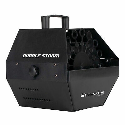 Eliminator Lighting Bubble Storm DJ Portable Electric Bubble Blower Machine
