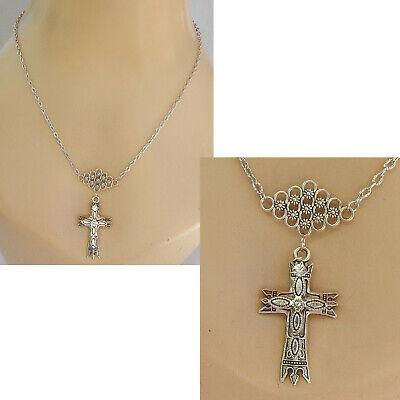 Silver Serenity Prayer Cross Pendant 925 Hallmark All Chain Lengths