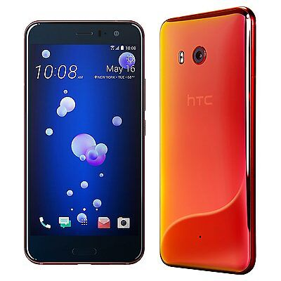 """HTC U11 SOLAR RED Android UNLOCKED Smartphone - NEW 64GB 5.5"""" LCD 12 Ultrapixel"""