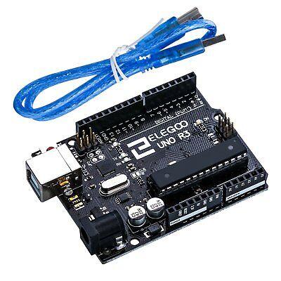 Elegoo UNO R3 Board Scheda ATmega328P ATMEGA16U2 con Cavo USB Compatibile con...