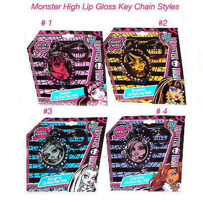 MONSTER HIGH LIP GLOSS BALMS KEY RING CHAIN FLAVOURED BIRTHDAY PARTY GIRLS FOB ()
