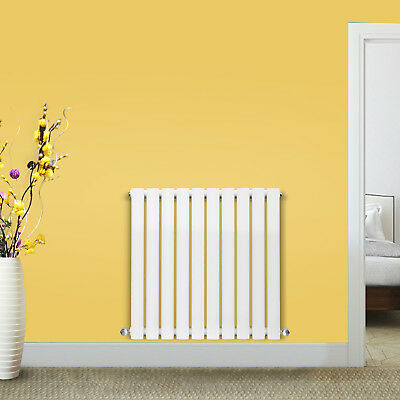 600x590mm Designer Radiator Oval Column Central Heating Radiators Gloss White