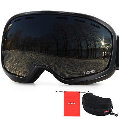 Gonex Anti Fog Ski Goggles 100% UV Protection Snow Snowboard Goggles Large Size
