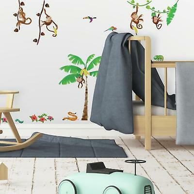 MONKEY BUSINESS WALL STICKERS 41 New Kid Room Baby Nursery Decals Monkeys Decor
