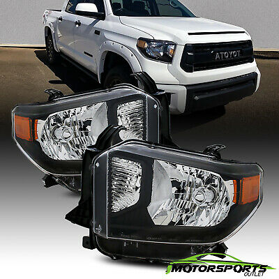 [TRD Style]For 2014-2017 Toyota Tundra Black Truck Headlights 2015 2016 Pair