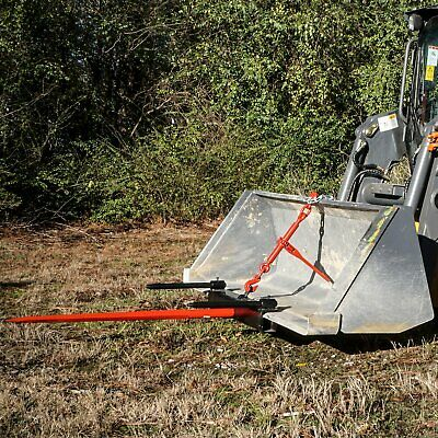 Bucket Hay Bale Spear Universal Attachment With Hd 39 Spike Stabilizer Spears