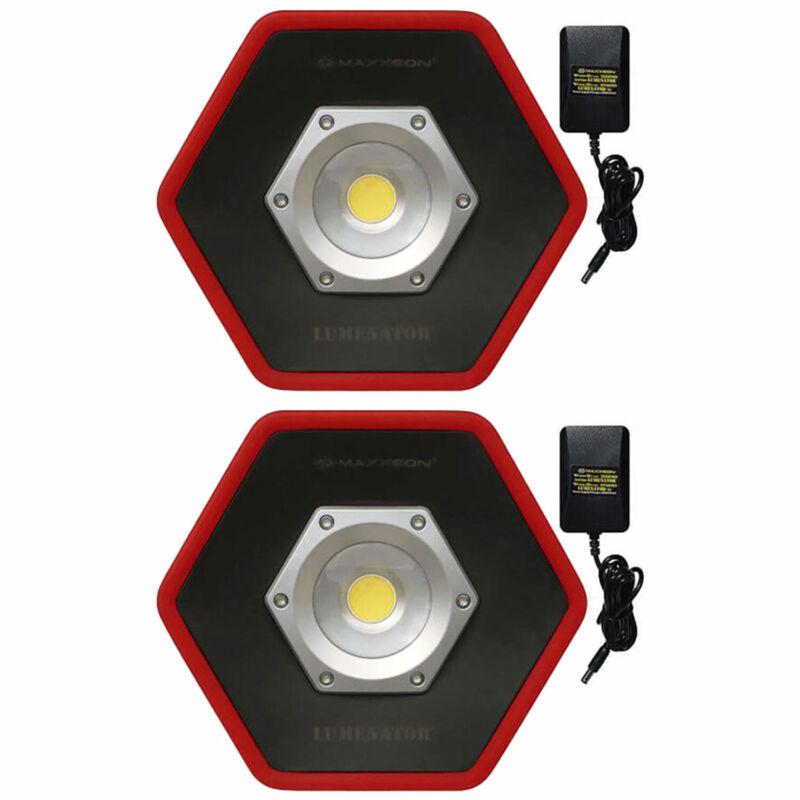 Maxxeon Workstar 5000 Lumenator Commercial Grade LED Work Light, Red (2 Pack)