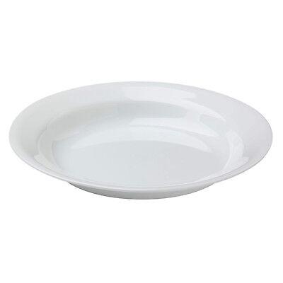 Rim Pasta Plate - Corelle WINTER FROST WHITE 15-oz Wide Flat Rimmed SOUP Plate Pasta BOWL 8 1/2