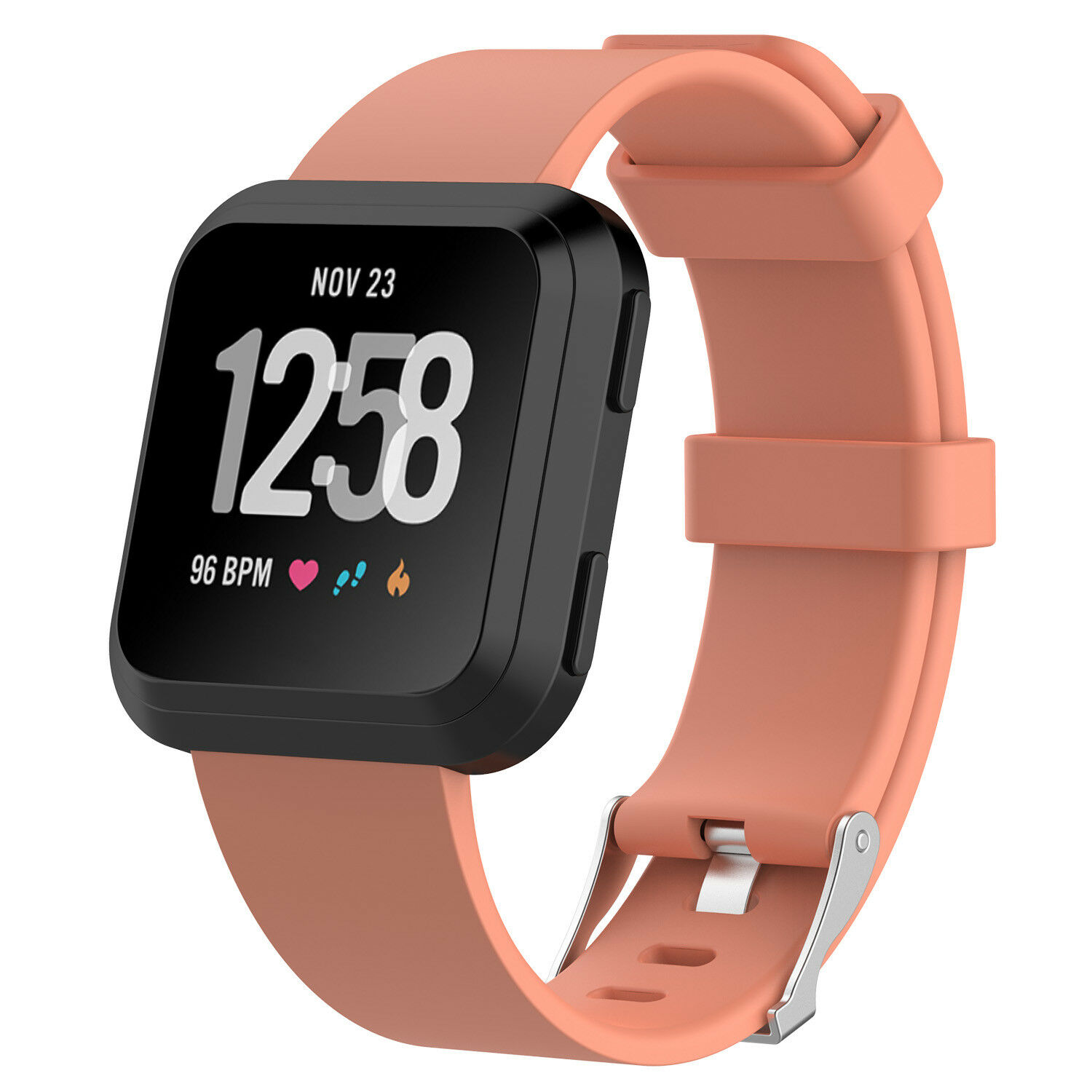 Replacement Silicone Rubber Classic Band Strap Wristband For Fitbit Versa Watch Orange