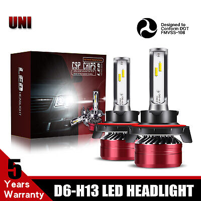 TURBOSII H13 LED Headlight Bulb 2-Side 12000LM 60W For 2007-2017 JEEP