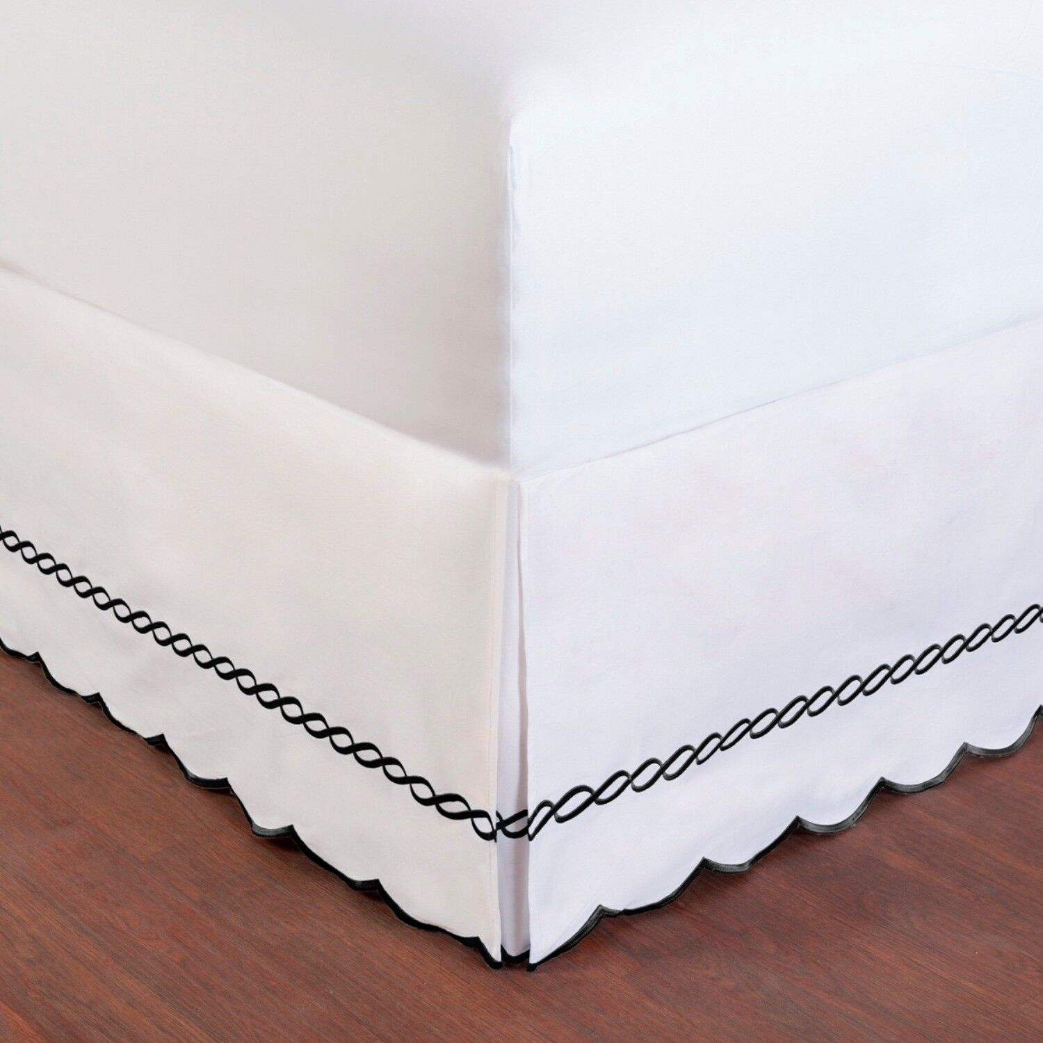 Wickham Embroidered Rope Bedskirt