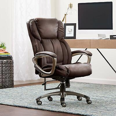 Serta Works Executive Office Chair, Bonded Leather,