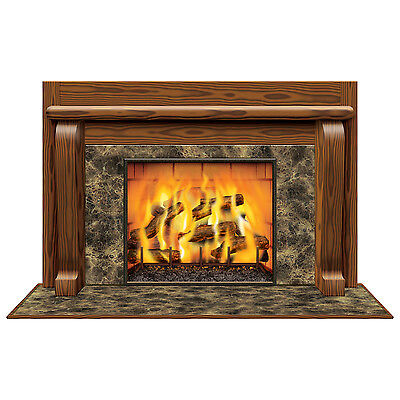 Fireplace Scene Setter Wall Decoration - 157 cm - Christmas & Winter Party