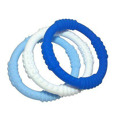 Teething Ring 3 Pack - mooi baby - Baby Boy Teething Rings - BPA-Free