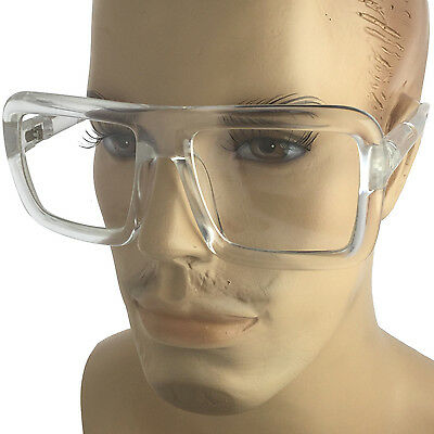 Clear Frame Large Thick Retro Nerd Bold Big Oversized Square Clear Lens (Bold Frame Glasses)