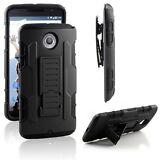 Nexus 6 Case, Impact Armor Hybrid Belt Clip Case with Kickstand - Black